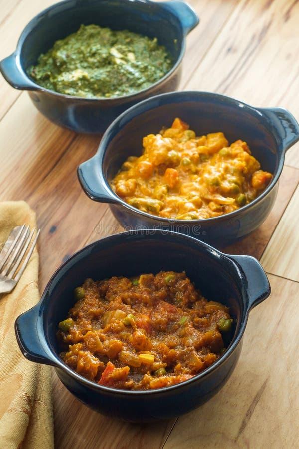 Indischer Nahrungsmittelvegetarier Thali lizenzfreie stockfotografie