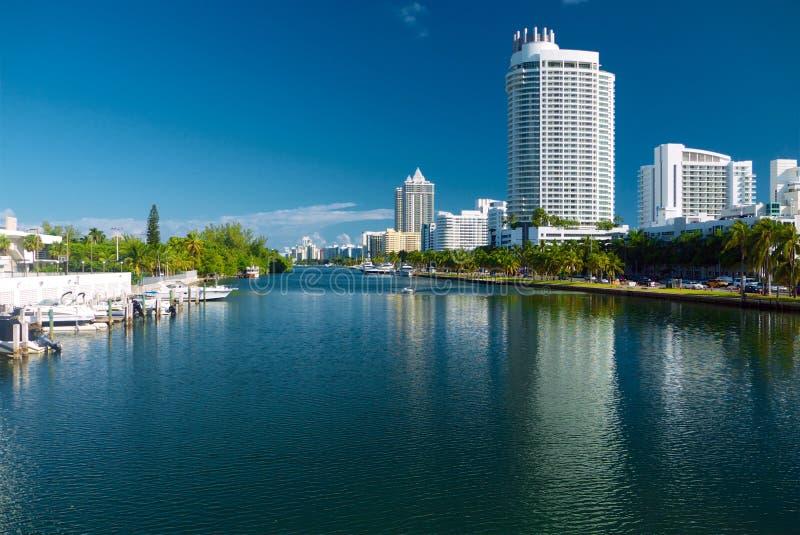 Indischer Nebenfluss im Miami Beach Florida lizenzfreie stockfotografie