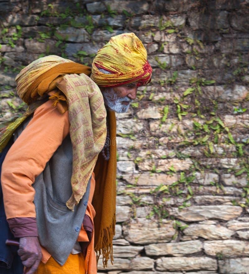 Indischer Pilgerer stockbilder
