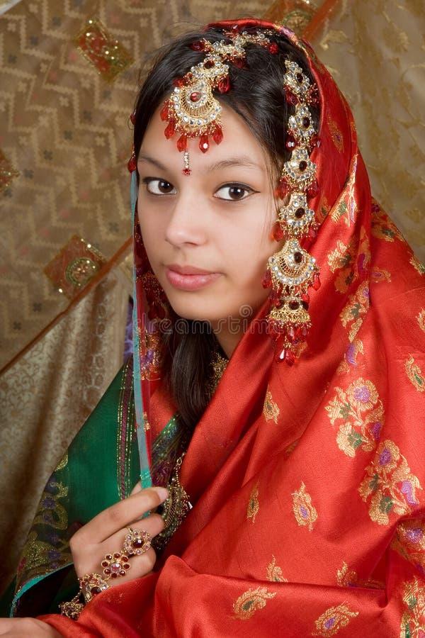Indischer Saree lizenzfreies stockbild