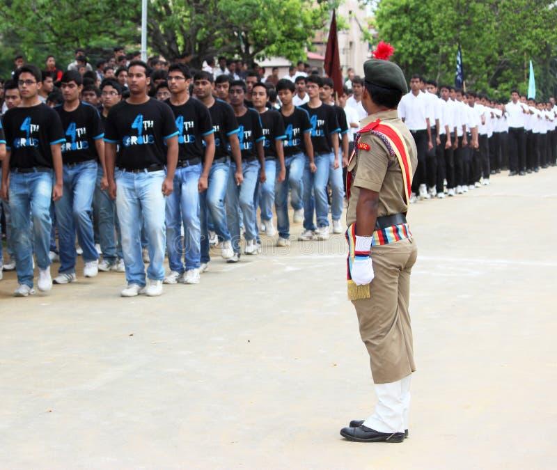 Indischer Soldat NCC in der Uniform lizenzfreies stockfoto