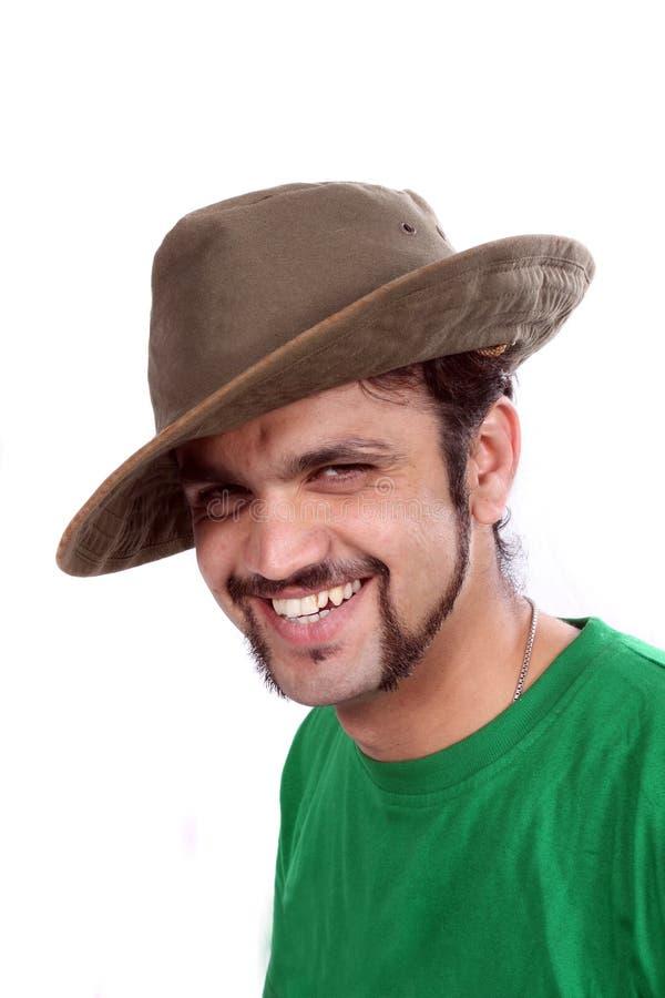 Indischer tragender Hut lizenzfreies stockbild