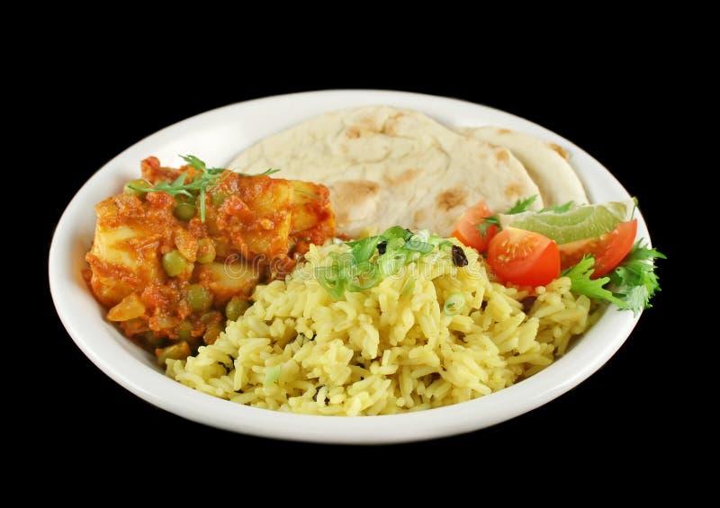 Indischer vegetarischer Curry stockbilder