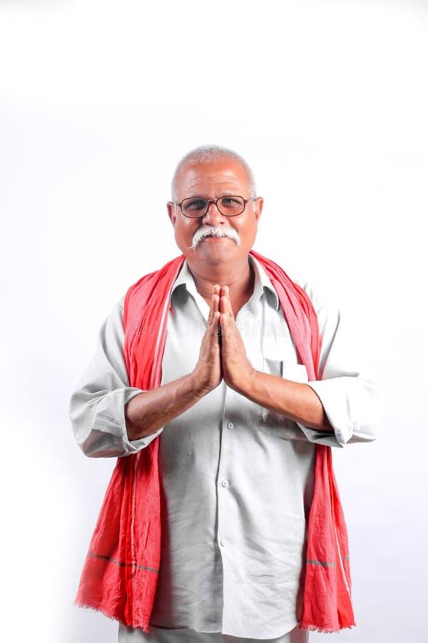 Indisches/asiatisches Begrüßen der alten Männer stockfoto