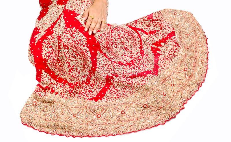Indisches Brautlehnga lizenzfreies stockfoto