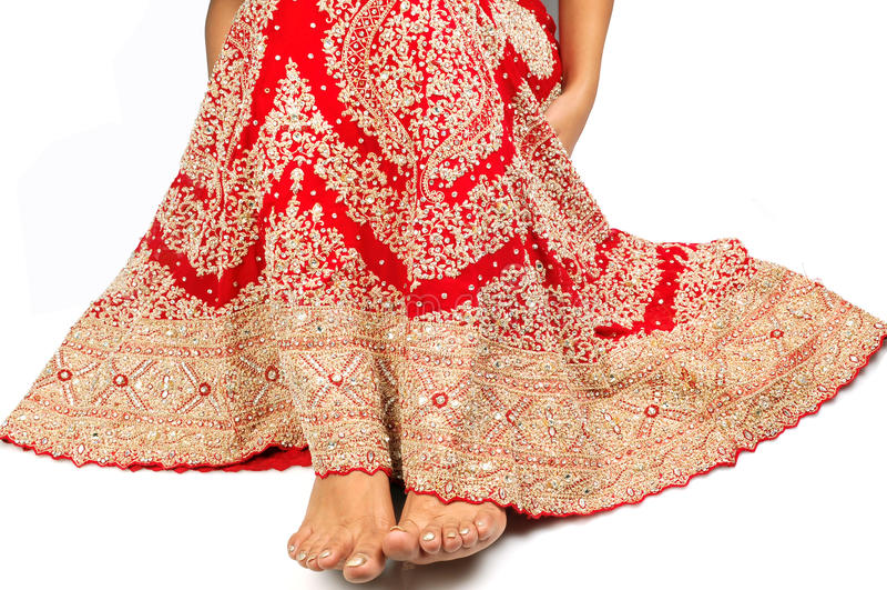 Indisches Brautlehnga stockfotografie