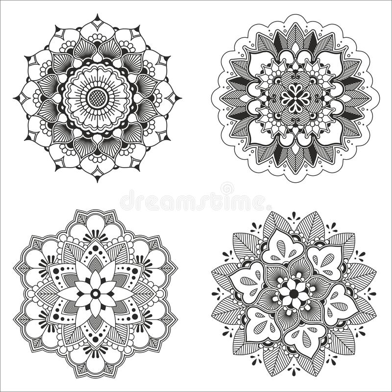 Indisches dekoratives Muster des Vektors lizenzfreie abbildung