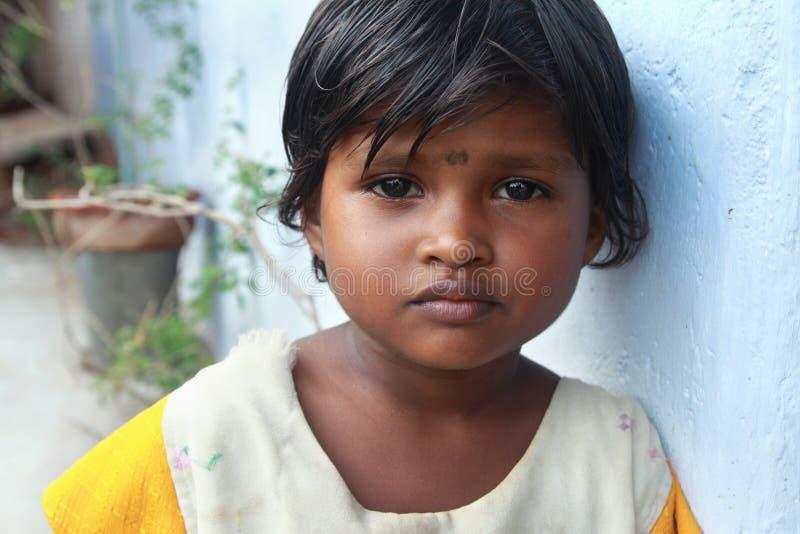 Indisches Dorf-Mädchen stockfotos