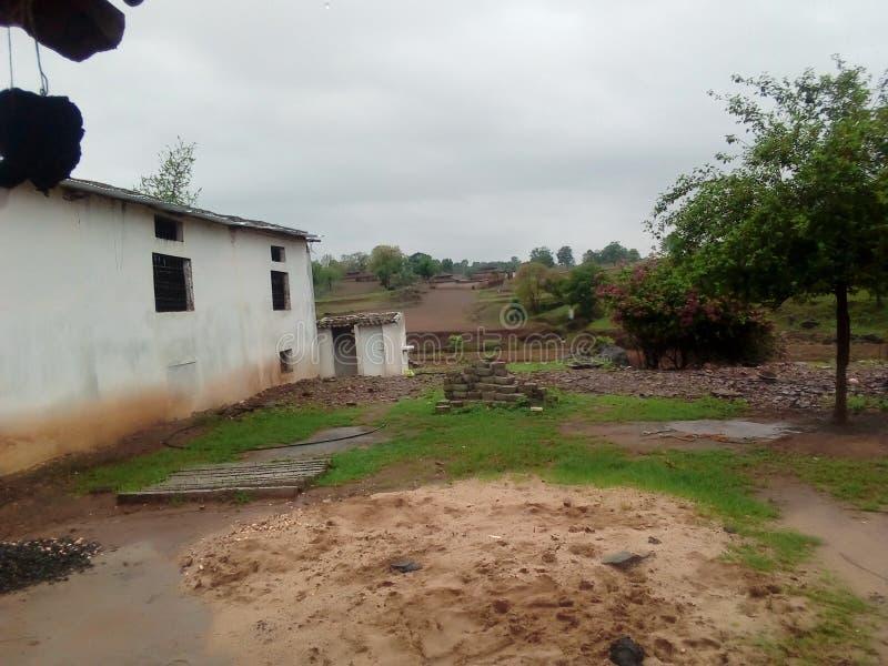 Indisches Dorffoto lizenzfreies stockfoto