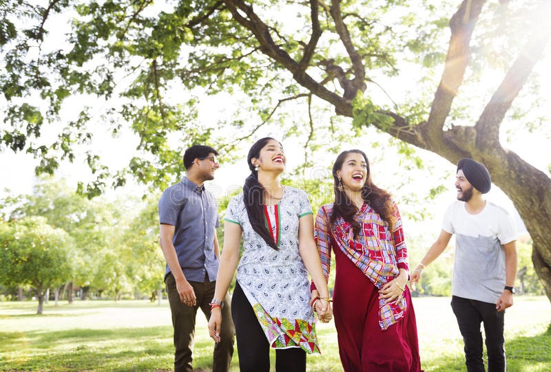 Indisches Ethnie-Freundschafts-Zusammengehörigkeits-Konzept stockfotos