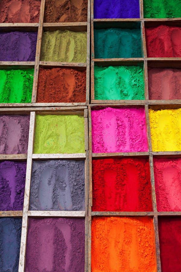Indisches Farbpulver stockfoto