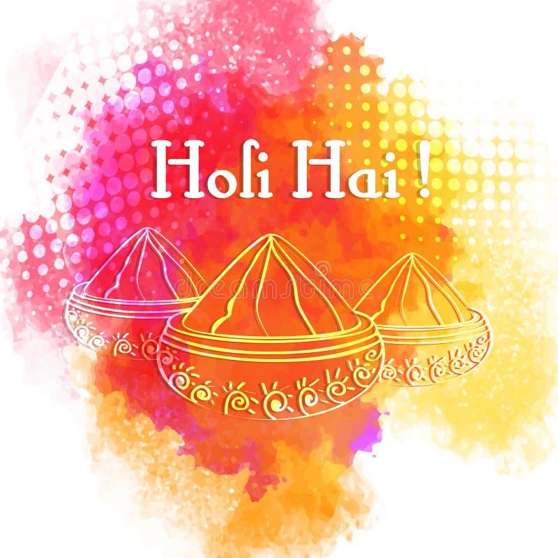 Indisches Festival von Farben, Holi-Feierkonzept lizenzfreie abbildung