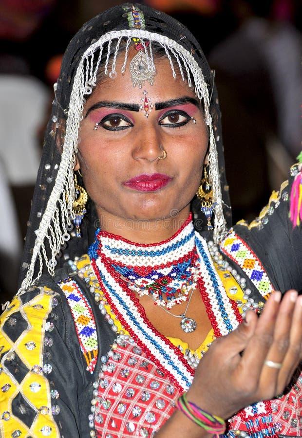 Indisches Festivalmädchen lizenzfreies stockbild