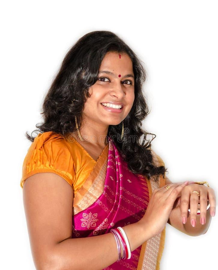 Indisches Frauen-Porträt stockbild