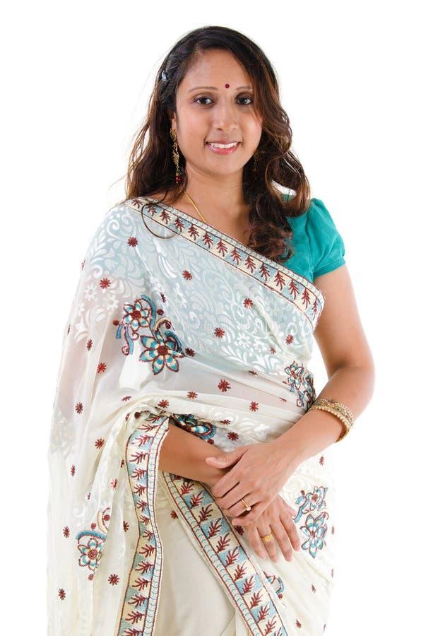 Indisches Frauenlächeln. lizenzfreie stockfotografie
