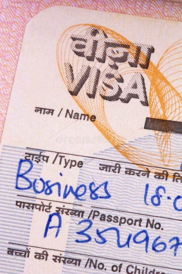 Indisches Geschäfts-Visum lizenzfreie stockbilder