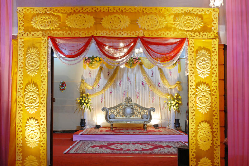 Indisches Hochzeit mandap lizenzfreies stockbild