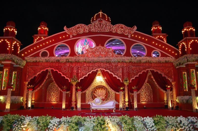Indisches Hochzeitsstadium mandap lizenzfreie stockbilder