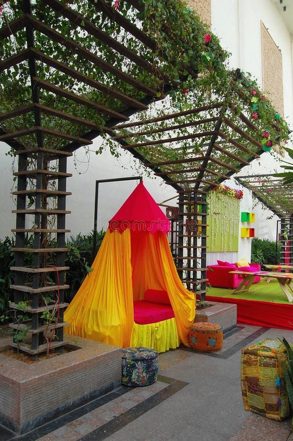 Indisches Hochzeitszelt lizenzfreie stockfotos