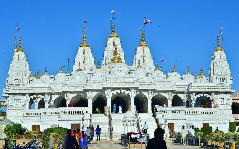 Indisches Jain Tempel aksharwadi bhuj stockbilder