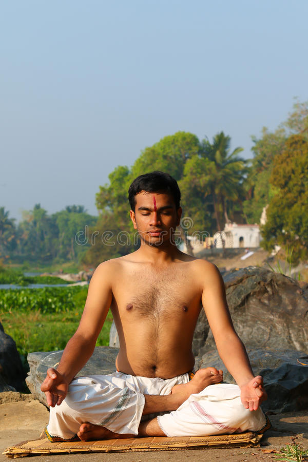 Indisches Jogi stockfoto