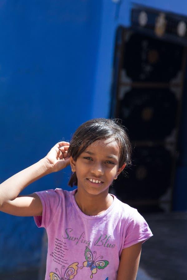Indisches jugendlich Mädchen stockfotos