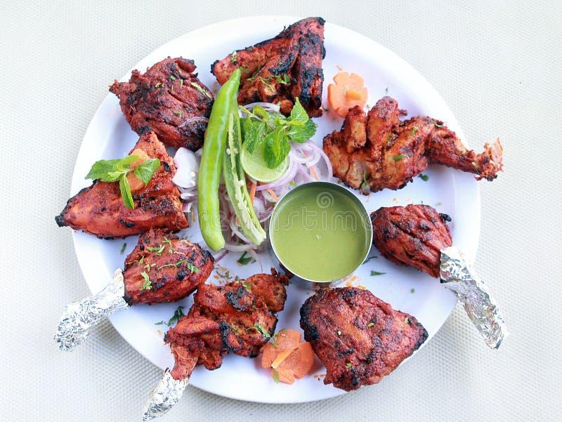Indisches Küche Tandoori-Huhn voll lizenzfreie stockbilder