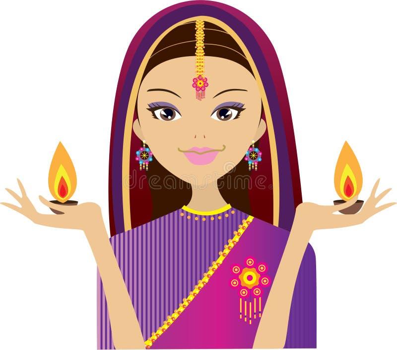Indisches Mädchen vektor abbildung