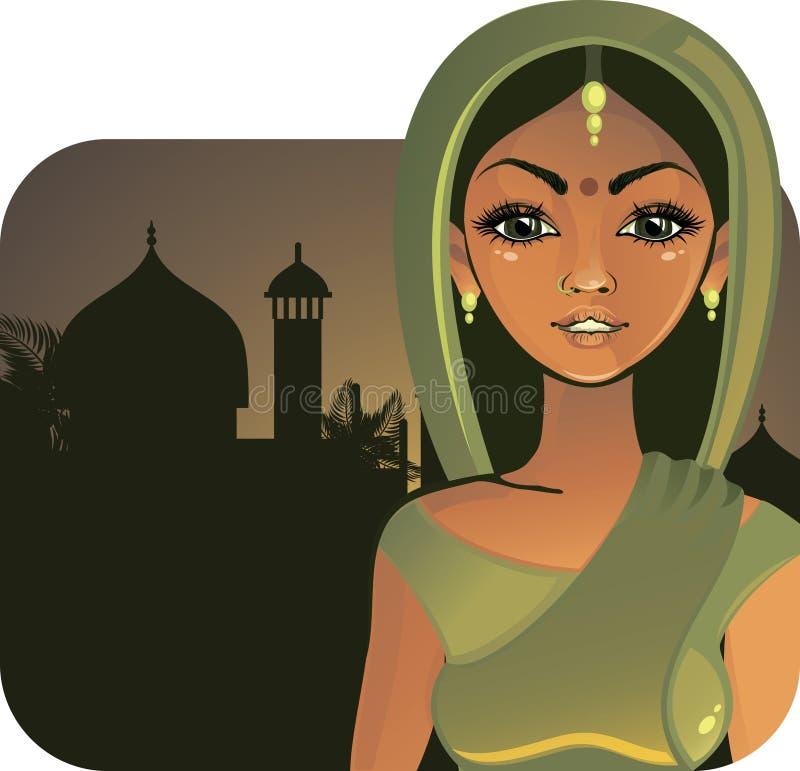 Indisches Mädchen (Vektor) vektor abbildung