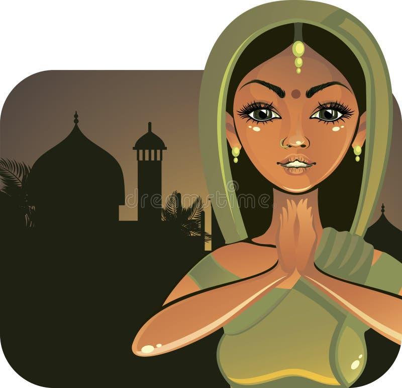 Indisches Mädchen (Vektor) lizenzfreie abbildung