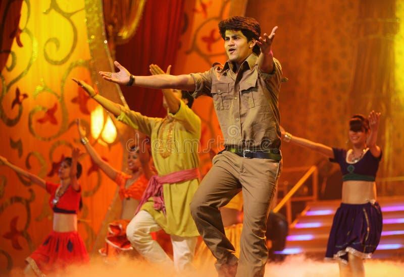 Indisches Musik-und Tanz-Erscheinen lizenzfreies stockbild