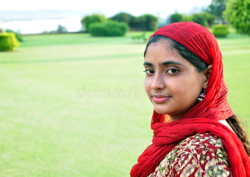 Indisches Punjabimädchen stockfotografie
