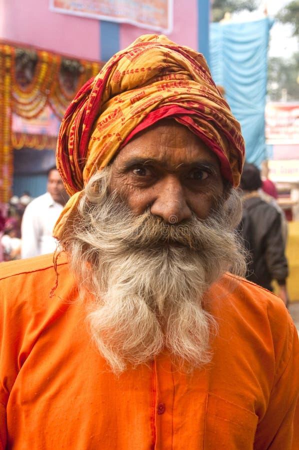 Indisches sadhu mit Turban stockfotos