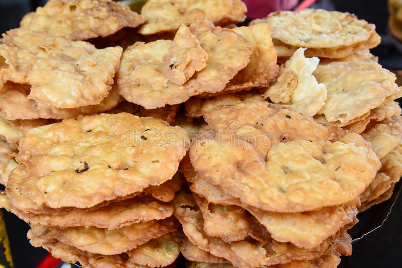 Indisches streetfood - Papdi-Schwätzchen stockfotos