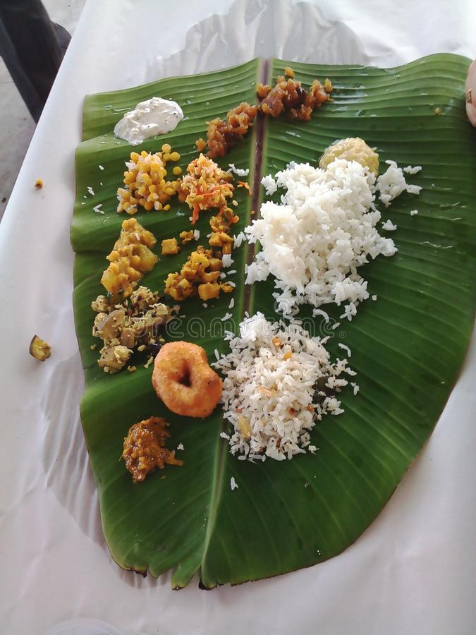 Indisches tamilian SüdLebensmittel lizenzfreies stockfoto