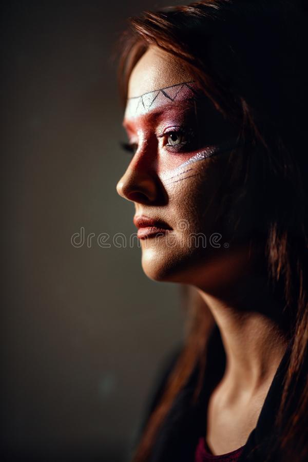 Indisk amerikansk kvinna royaltyfria bilder