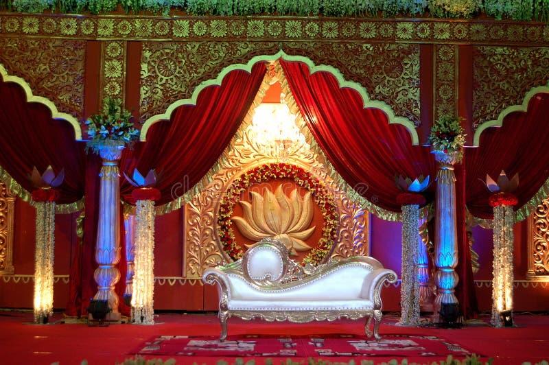 Indisk bröllopetappmandap arkivfoton