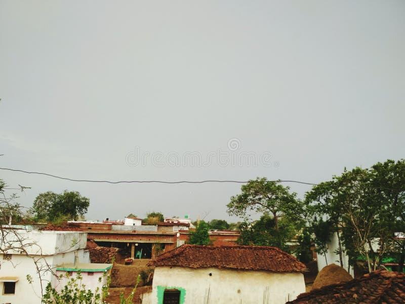 Indisk byblick fotografering för bildbyråer