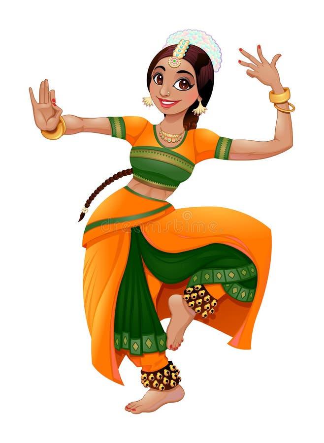 Indisk dansare vektor illustrationer