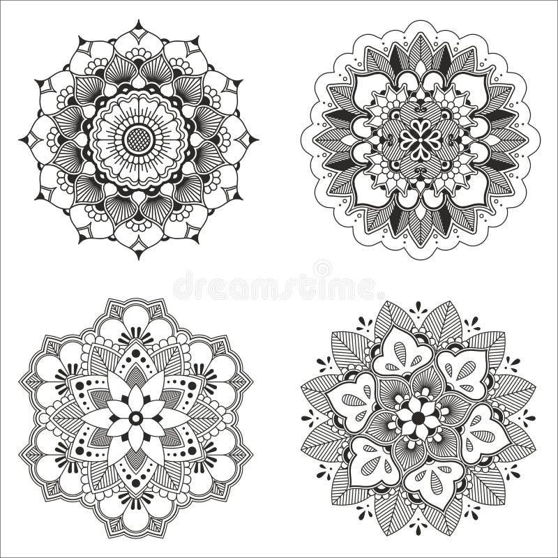 Indisk dekorativ modell för vektor royaltyfri illustrationer