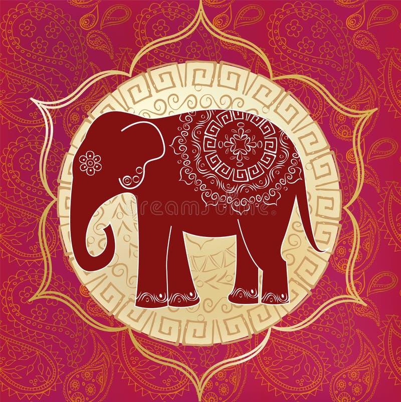 Indisk elefant royaltyfri illustrationer