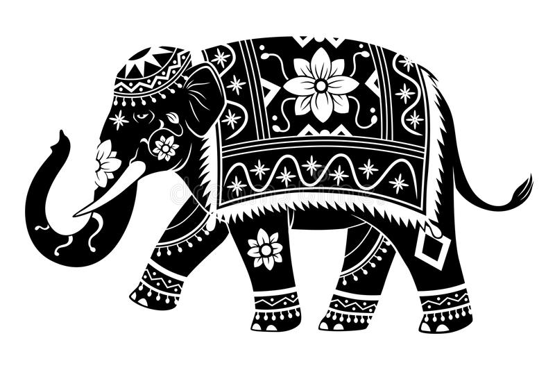 Indisk elefant royaltyfri illustrationer