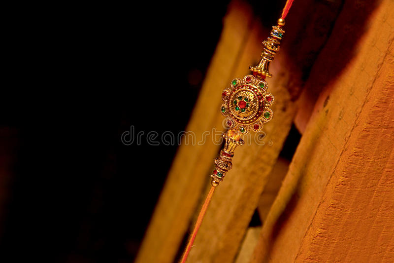 Indisk festival Raksha Bandhan, Raakhi royaltyfria bilder