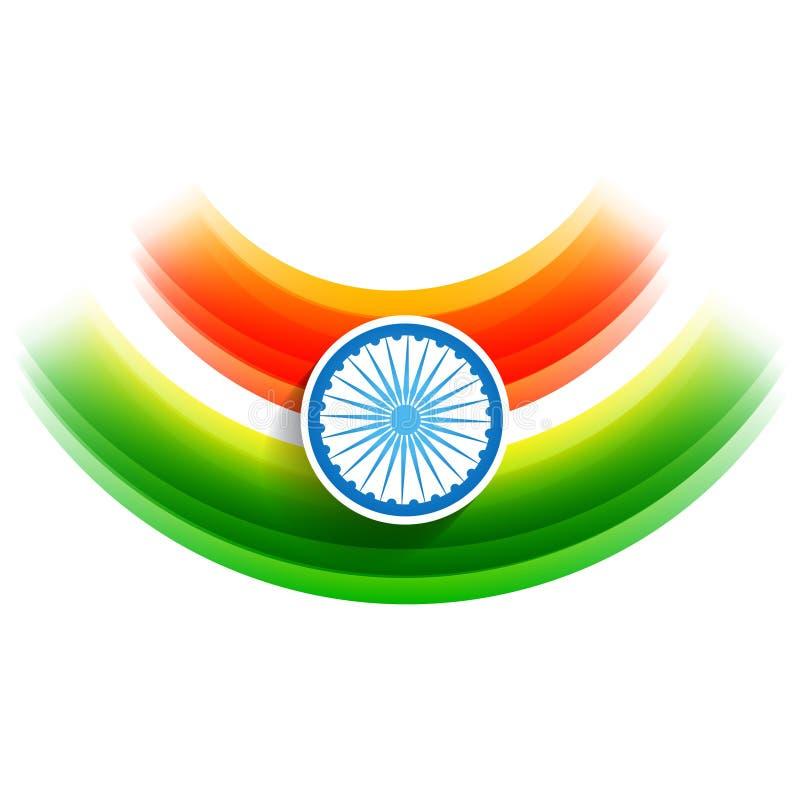 Indisk flaggabakgrund för vektor vektor illustrationer
