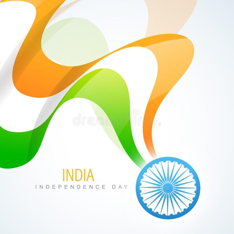 Indisk flaggadesign royaltyfri illustrationer