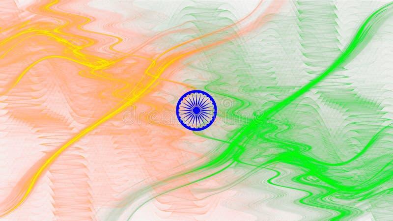 Indisk flaggaillustration för självständighet- och republikdag royaltyfri illustrationer