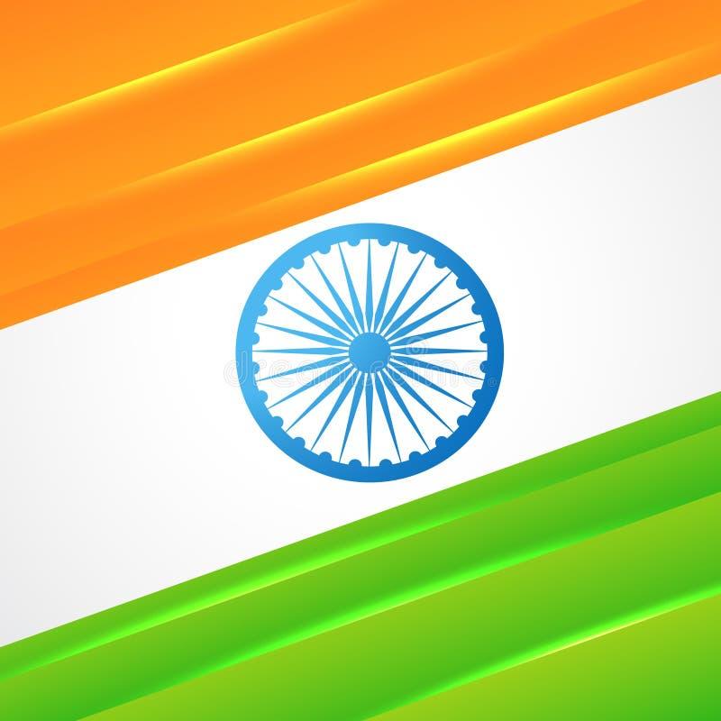 Indisk flaggavektordesign stock illustrationer