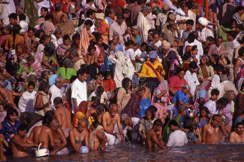 Indisk flodprayagraj royaltyfri bild