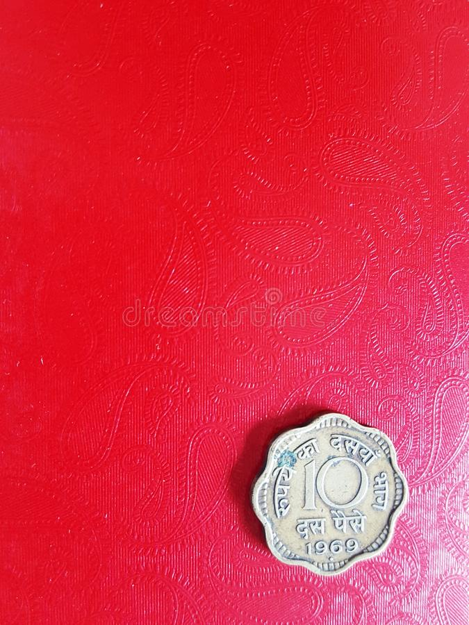 Indisk gammal paisa för mynt 10 arkivfoton