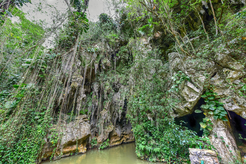 Indisk grotta - Kuba arkivbilder
